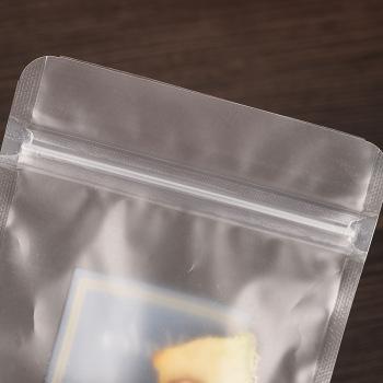 Composite-zipper-pocket-frosted-self-sealing-bag