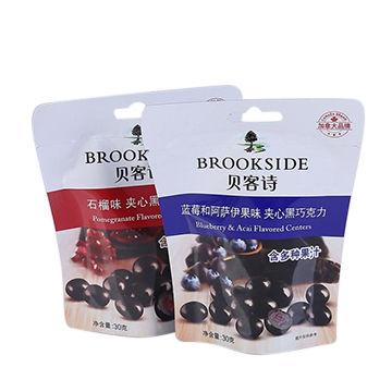 Eco-friendly dried fruit food packaging bags zip lock bag and custom printed plastic bag