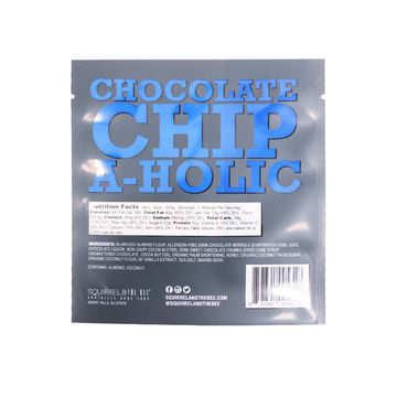 Custom printing laminated Flat pouches for chocolate chips and snack with transparent looking 11