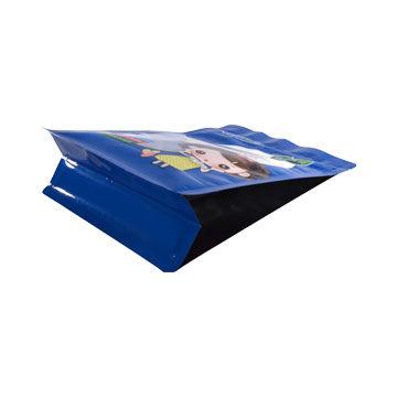 Customized foil valves sealed side gusset quad seal coffee bag stand up zipper plastic bag 5