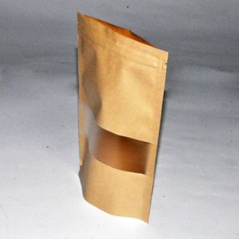 Factory-supplier-no-printing-resealable-stand-brown