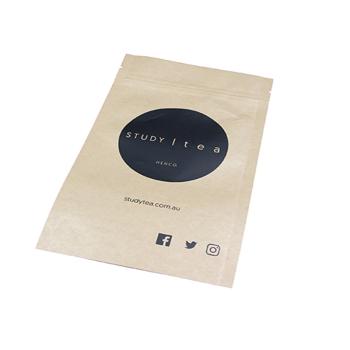 Wholesale-ziplock-stand-up-brown-paper-tea
