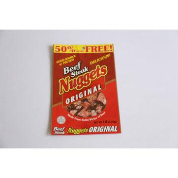 Custom-three-side-seal-beef-jerky-food