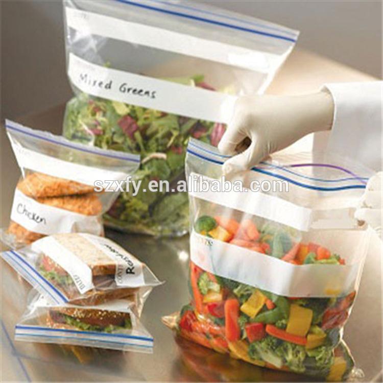 Wholesale Price Transparent Plastic PE Food Bag with Zipper for Storage Vegetables