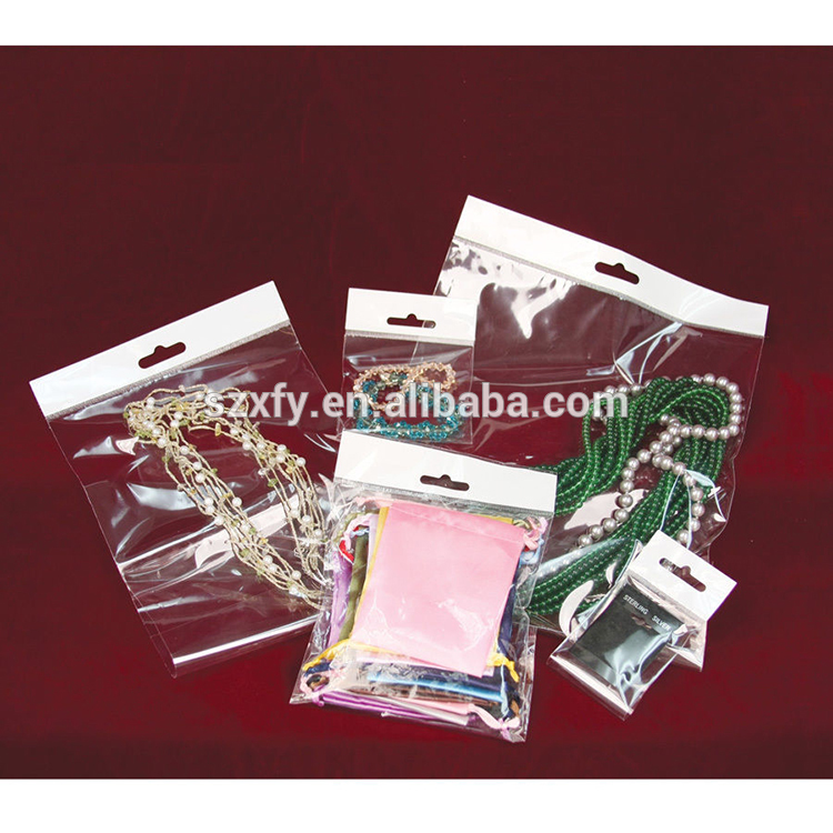 Wholesale Price Clear Plastic OPP Packaging Header Bag with Hanging Hole for Jewelry
