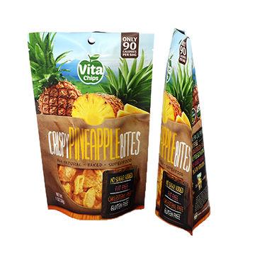 Heat Seal Plastic Food Vacuum Storage Standing Up Bag For Dry Fruit Plastic Bag