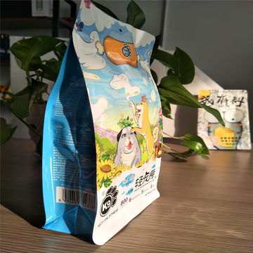 Flexible Stand Up Pet Food Bag With Ziplock And Window  Plastic Bag for Packaging Snack