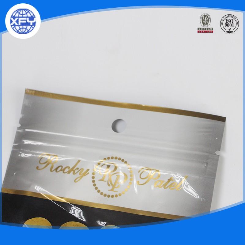 Wholesale Aluminum Foil Packaging Cigar Ziplock Plastic Bag With Header 5