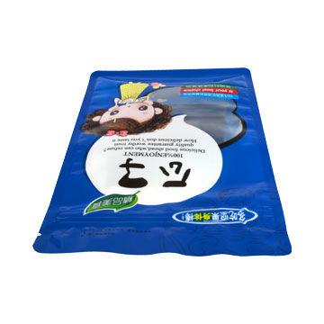 Customized foil valves sealed side gusset quad seal coffee bag stand up zipper plastic bag