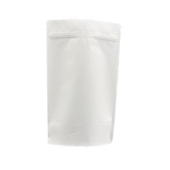 Hot-sale-zipper-stand-up-white-kraft