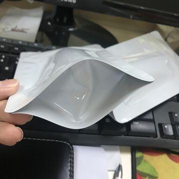 White printing food standup pouch bag/plain white standup zipper bag plastic bag 7