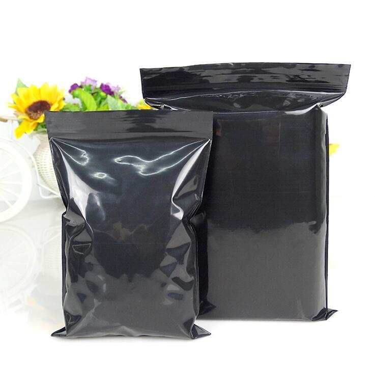 ziplock bags flat bottom Black Aluminum foil zip lock plastic bags packaging bags hot product