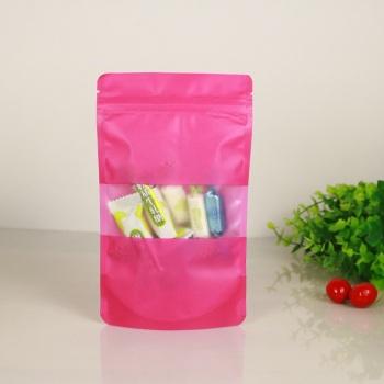 Colourful-Standup-plastic-bag-with-matt-window
