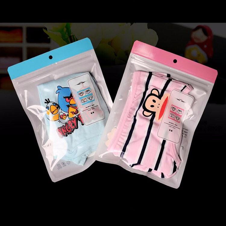 High Quality Top Zipper Underwear OPP Packaging Bag Header Cloth Packaging Bag 9