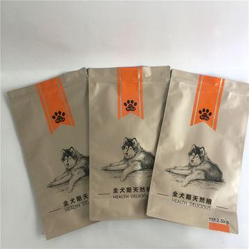Block Flat Bottom Easy Opening Pocket Zipper Stand-up Pet Food Bag Plastic Bag 3