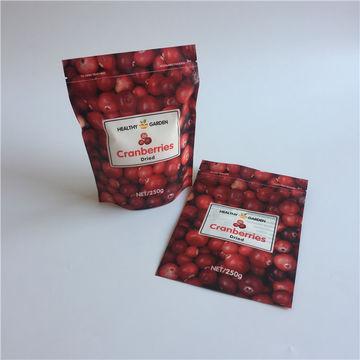 Eco-friendly zipper PET/PE food packing matte stand up plastic bag custom 7