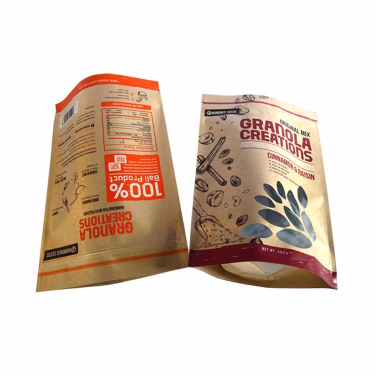 Hot Sell Food Safe Kraft Paper Tea Bag &Resealable Tea Packaging Bag 7