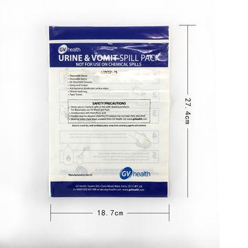Big custom printed stand up transparent LDPE plastic zipper bag