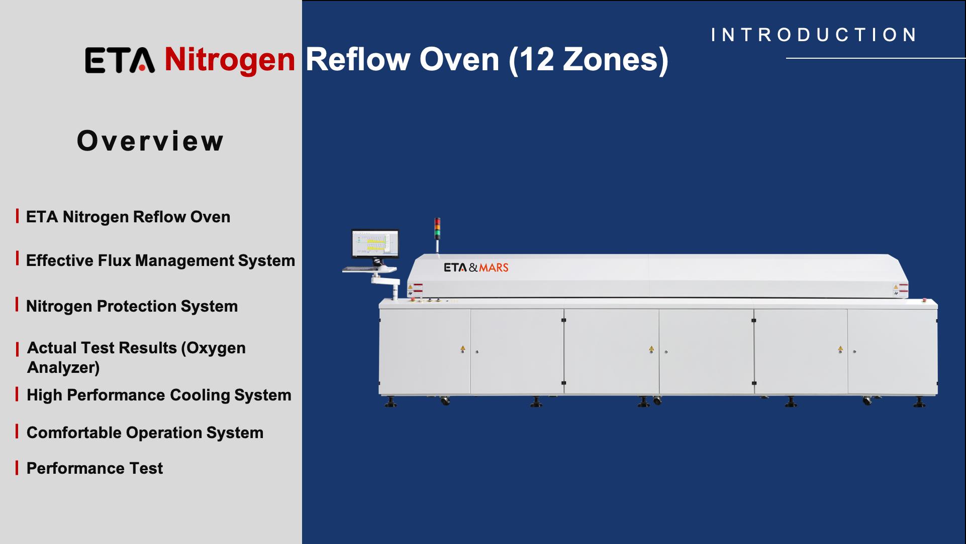 Nitrogen SMT Reflow Oven with 12 Zones