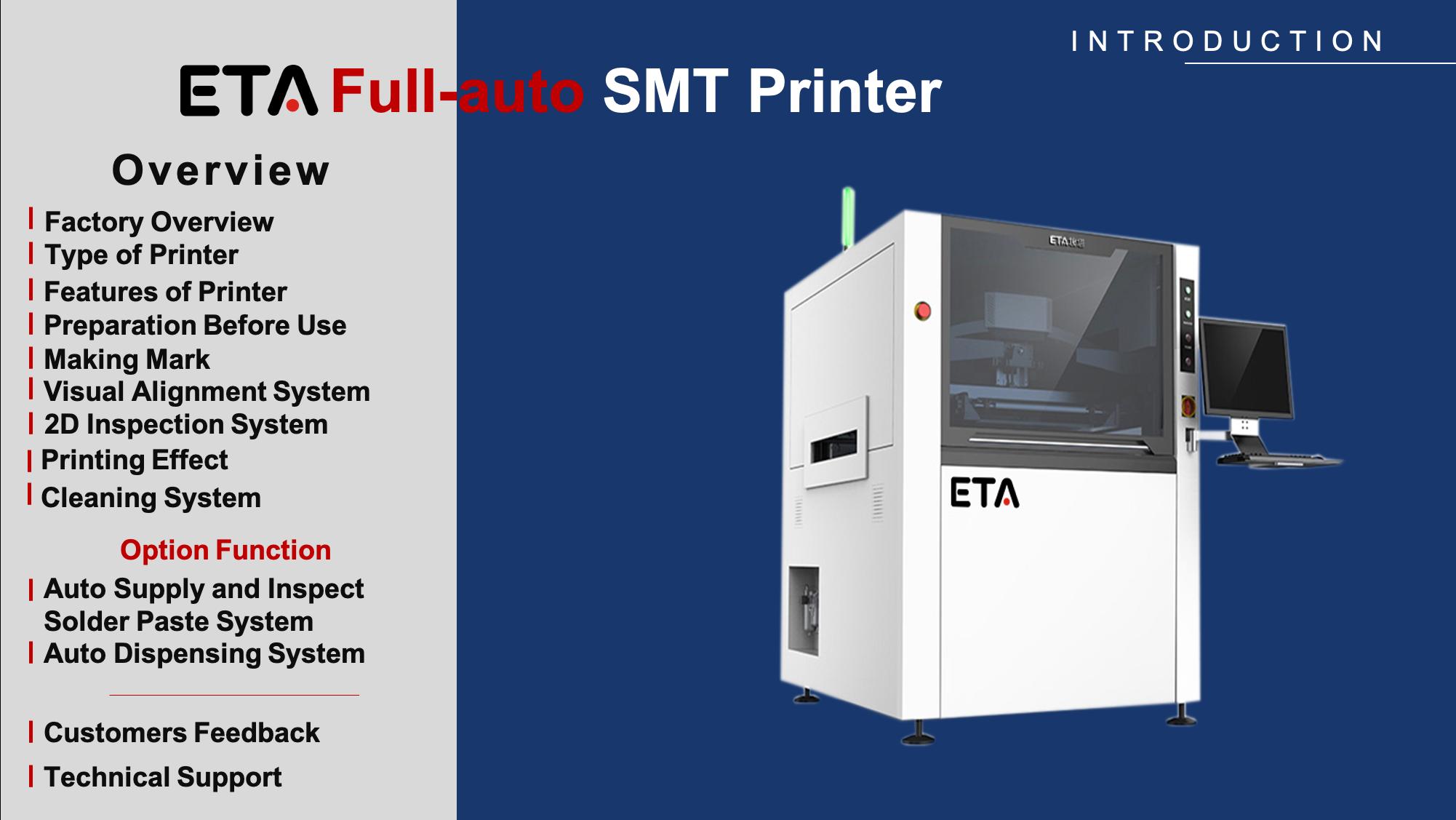 Full-auto Solder Paste SMT PCB Stencil Printer
