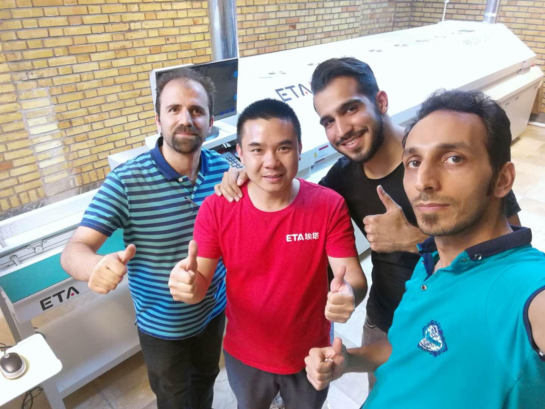 Feedback from Iranian Customers on ETA Semi-auto SMT Line