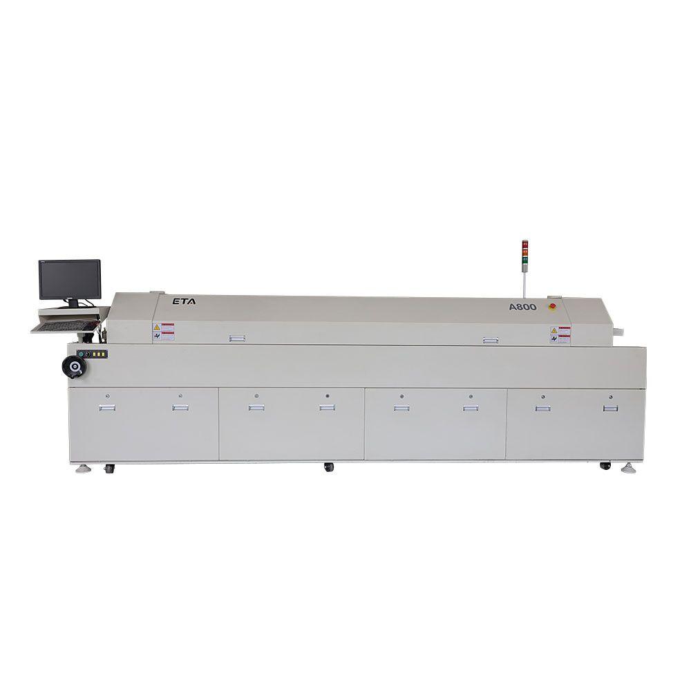8 Heating Zones SMT Reflow Oven ETA-A800 for LED Light Production Line