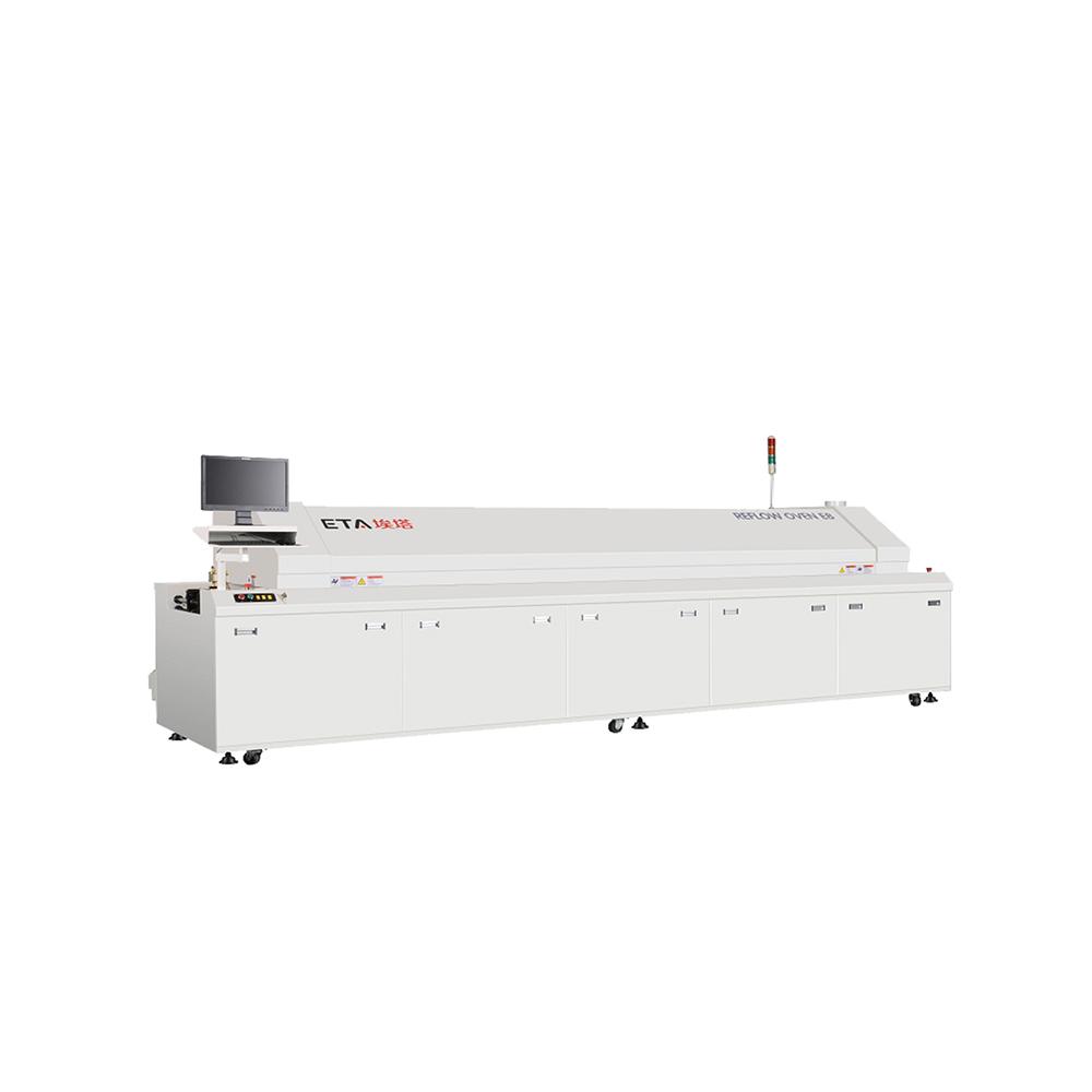 Chin Supplier ETA Customized Reflow Oven 10 Zones for Washing Machine Motor