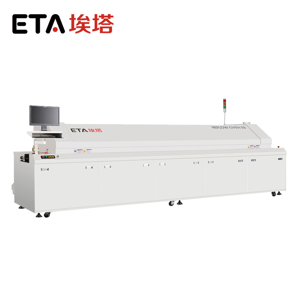 High Quality 10 heating zones lead free reflow oven 17