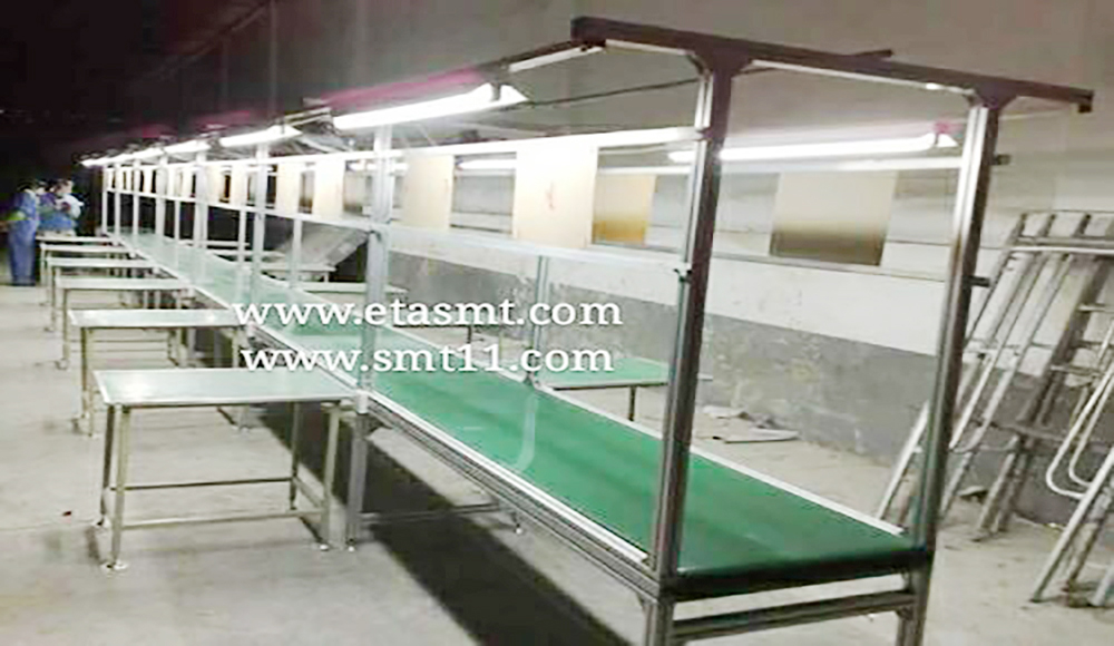 Automatic Speed Chain Conveyor for LED TV / LED Lamp / LED Bulb Assembly Line 3