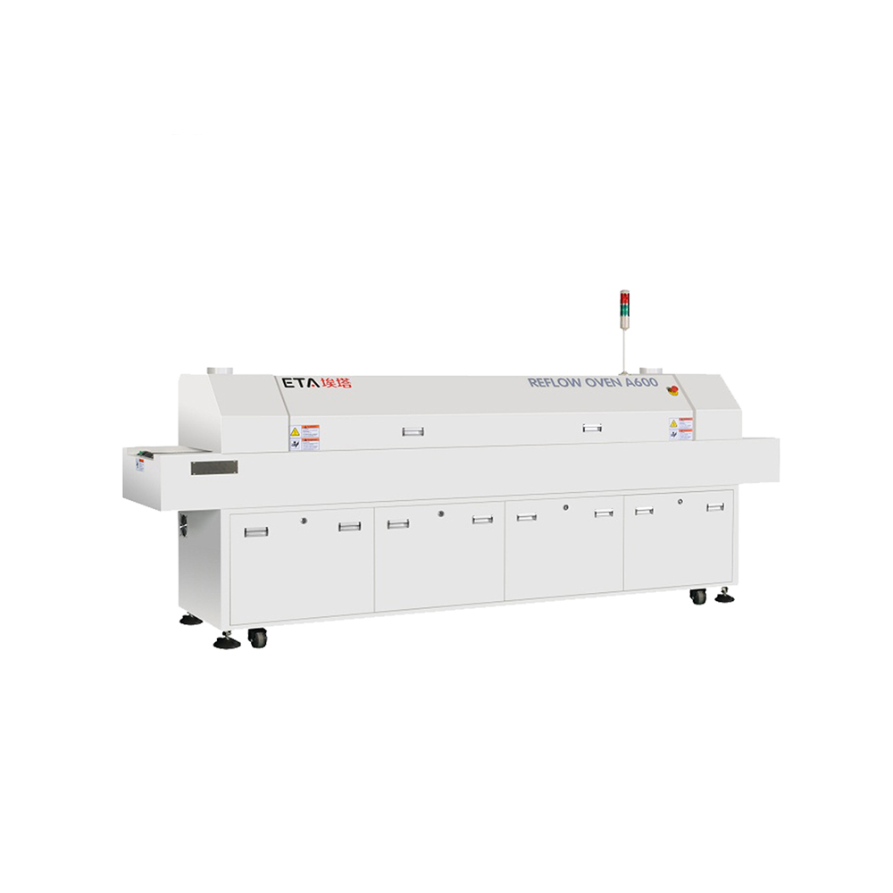 ETA PCB Making Machine Lead-Free Hot air SMT Reflow Oven A800 with 8 Zones