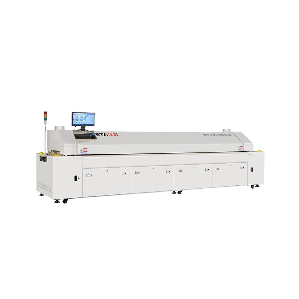 SMT line PC control 8 zone reflow soldering oven E8