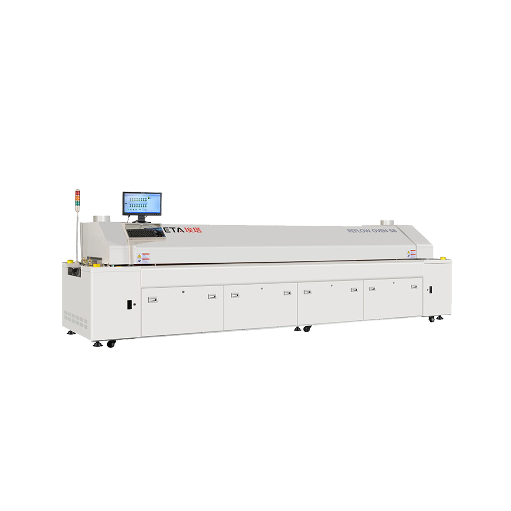 Reflow Solder 20 Heading Zone 2 Cooling Zone Lead Free Reflow Soldering Equipment
