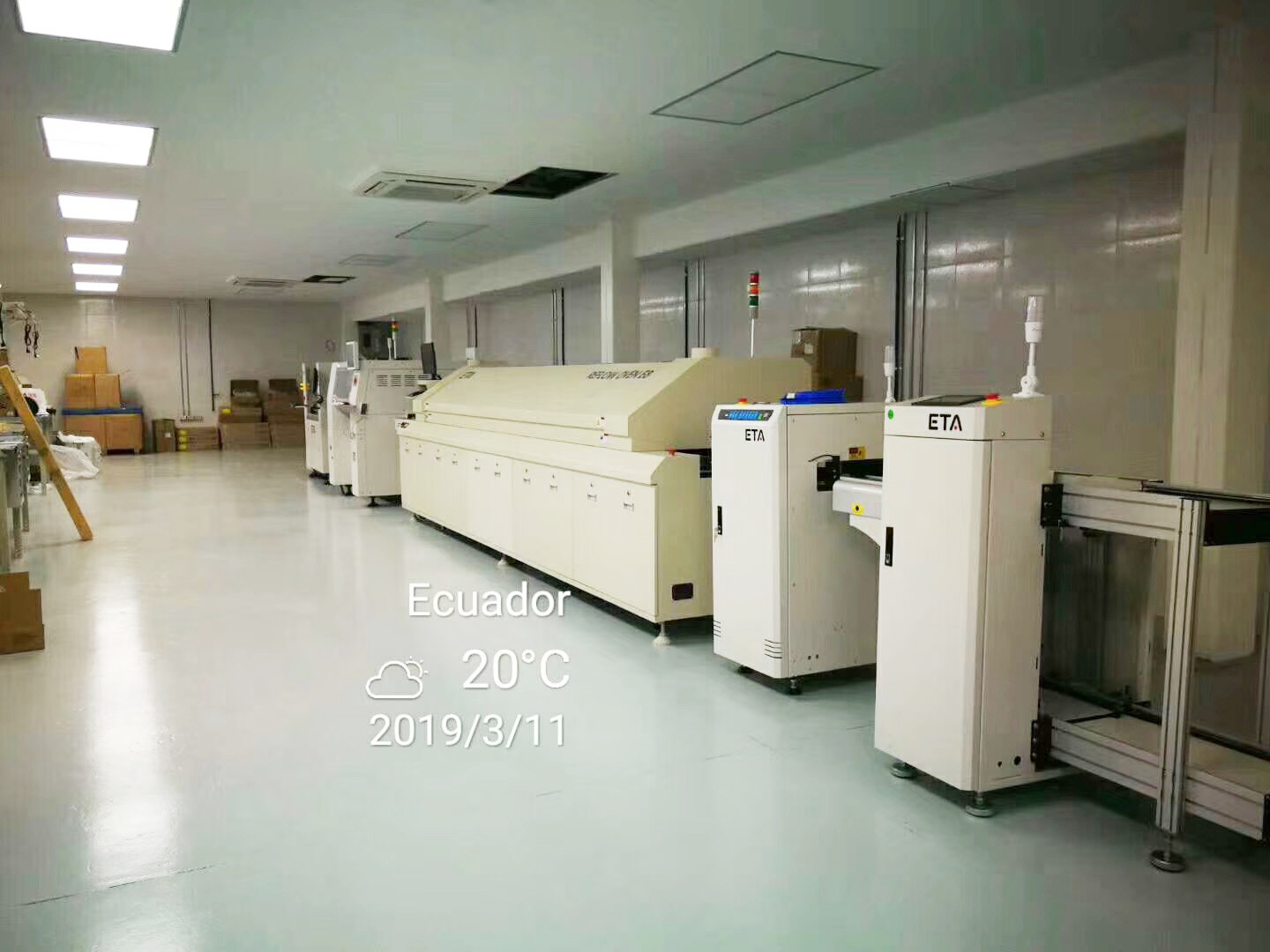 ETA Automatic SMT Line Machine Convection and IR Reflow oven for Potting Adhesive 7