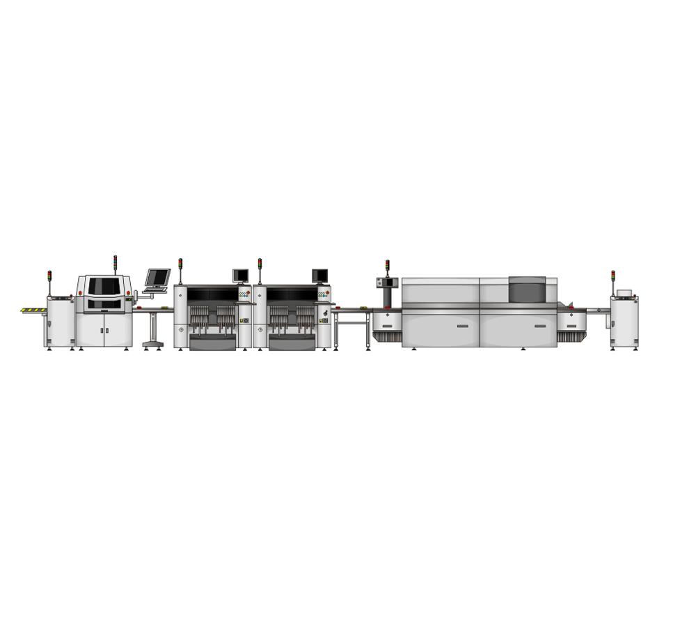 High Precision LED Assembly Line / SMT Assembly Line / PCBA Assembly Line