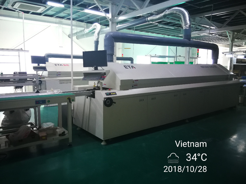 LED TV Soldering Equipment ETA Factory Reflow Oven Machine E8