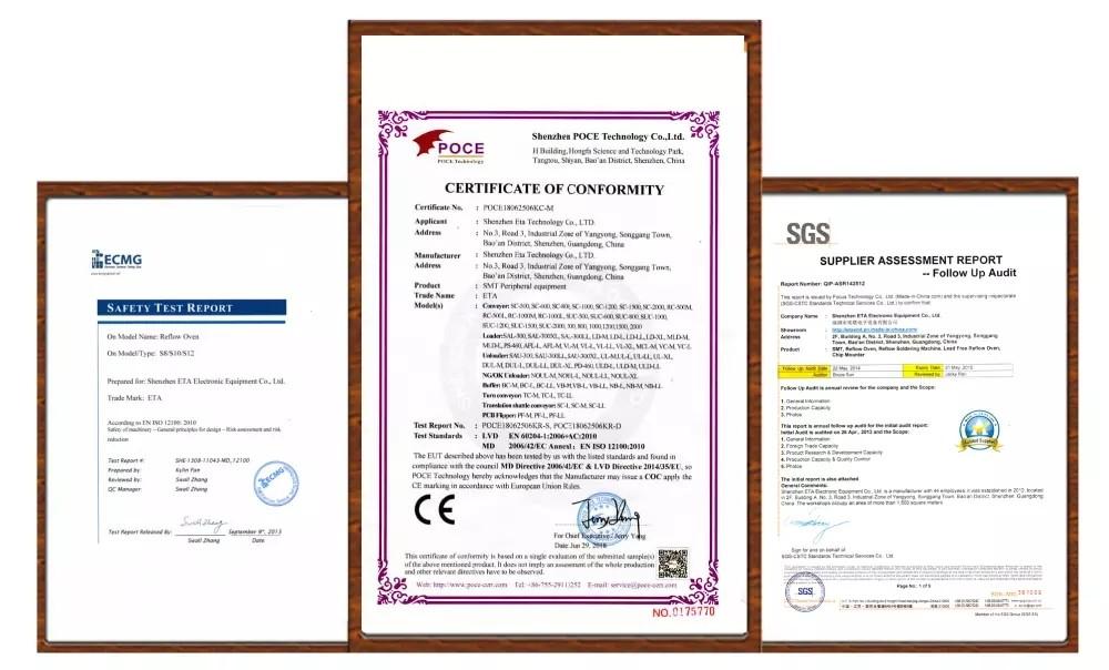 SMT Machine CE Certificate