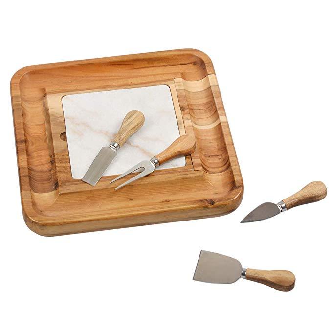 Custom large acacia slate cheese board