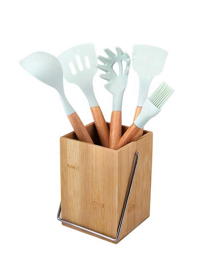 High Quality Bamboo Utensil Holder Utensil Dividers for Flatware And Kitchen Utensils