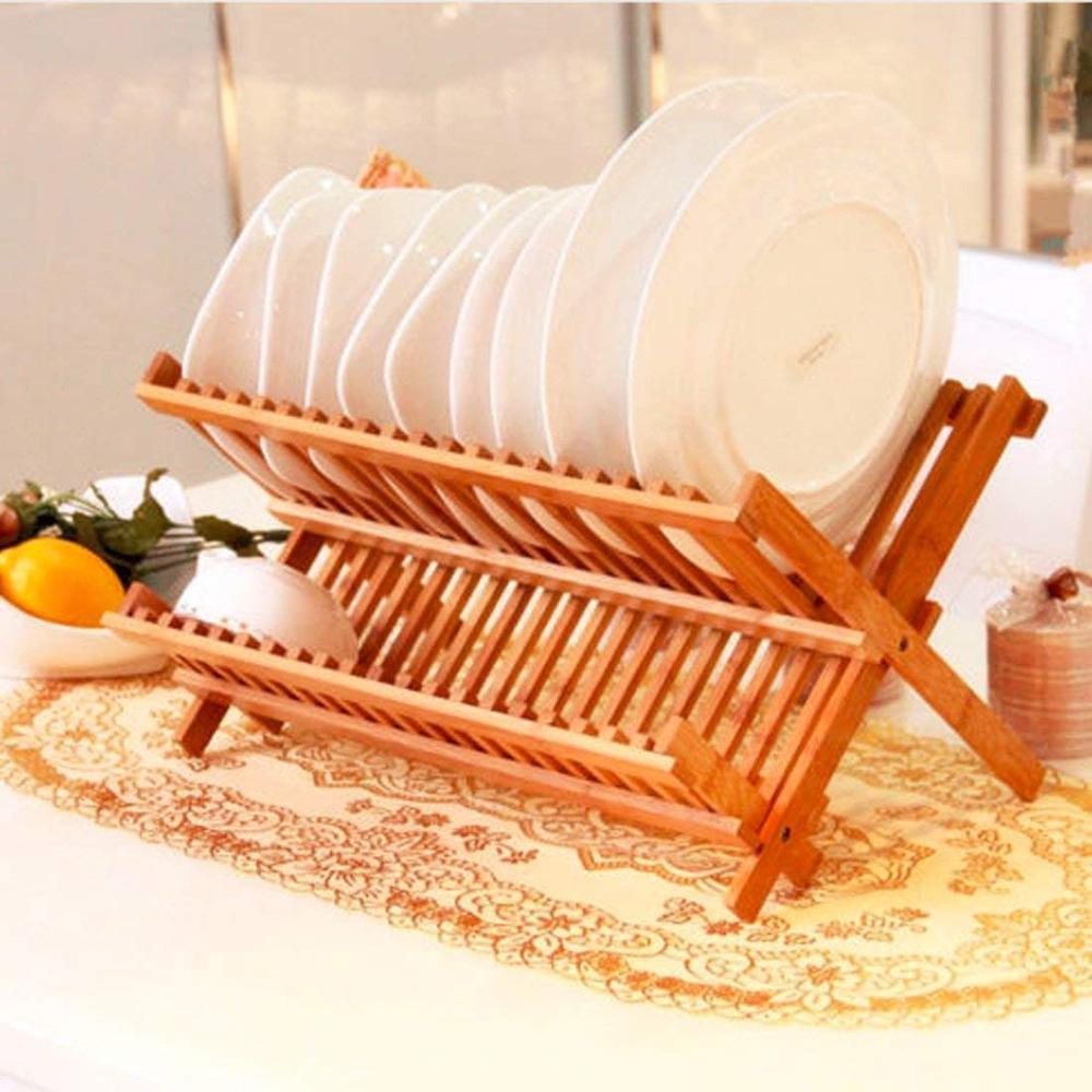 Shenzhen minshunlong factory bamboo wood dish rack