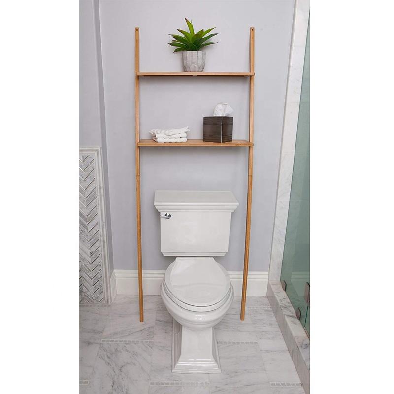 Bathroom Storage Shelf Over Toilet Space Saver, Freestanding Shelves For Bath Essentials, Planters, Books