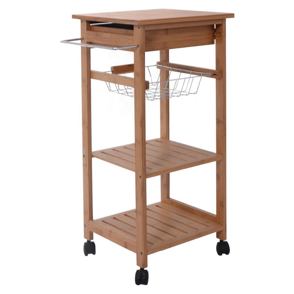 vintage wooden kitchen trolley