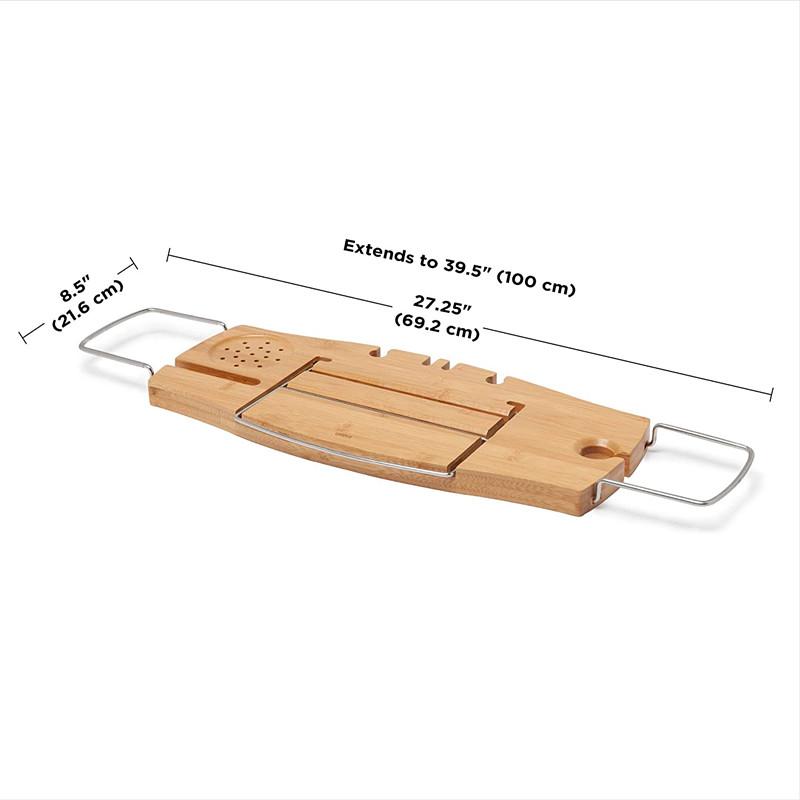 Extendable Bathtub Tray Bamboo Luxury Bath Caddy