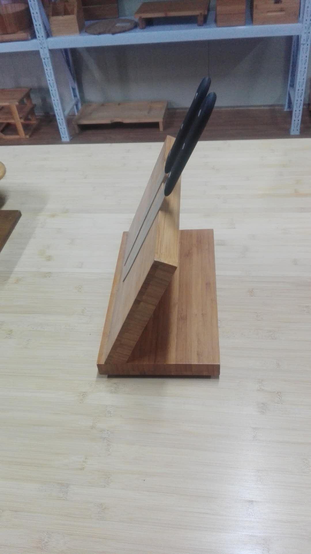 bamboo knife block