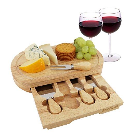 Oak wood cheese board feature