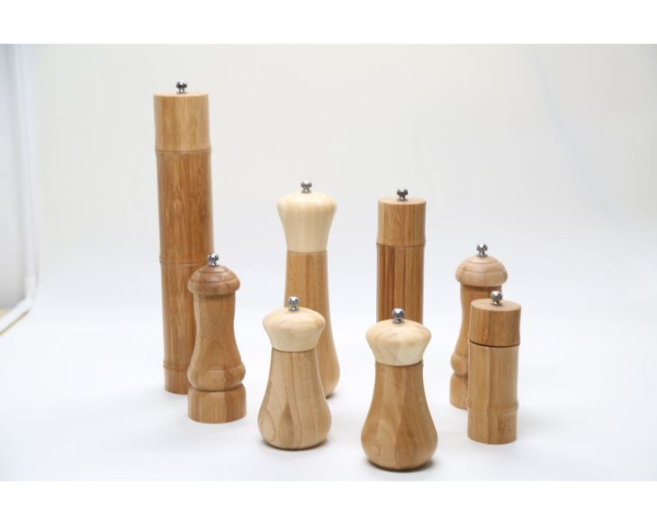 Bamboo Wooden Salt and Pepper Grinder Set