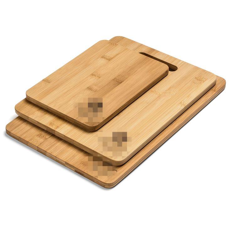 3-Piece Non-Slip Bamboo Cutting Board Set
