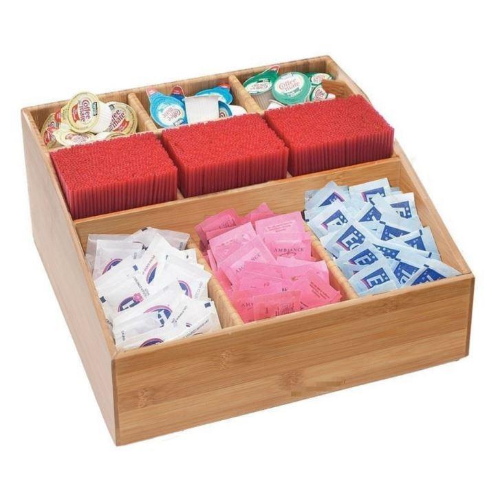 Bamboo 9 Compartment Condiment Organizer
