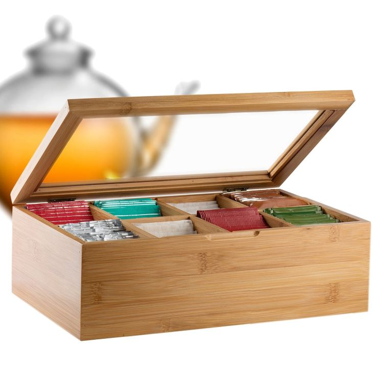 8-Compartment Tea Storage Box
