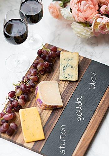 Acacia Wood And Slate Cheese Board