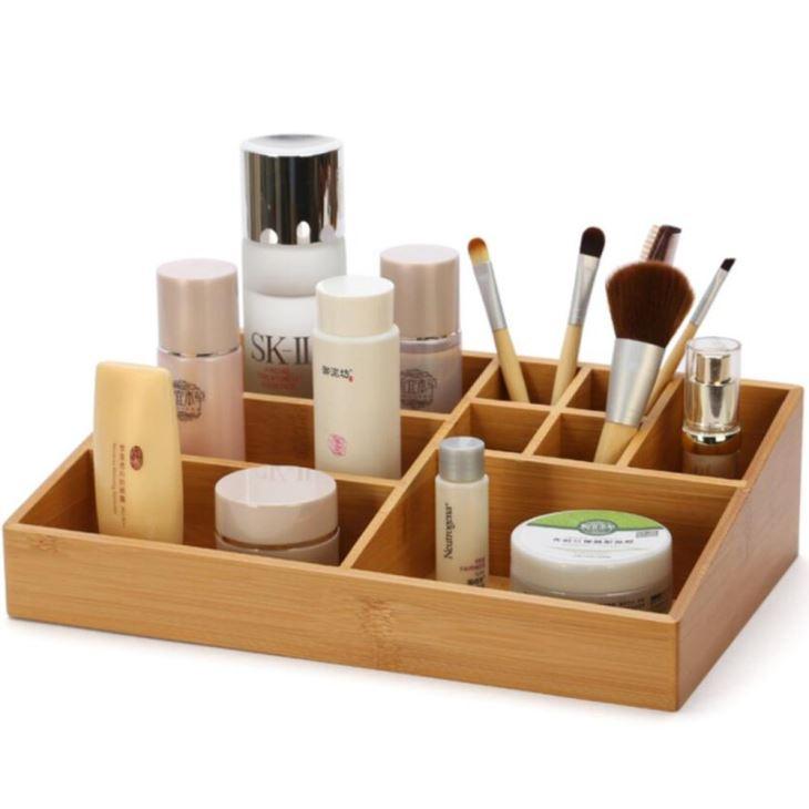 Bamboo Makeup Organizers